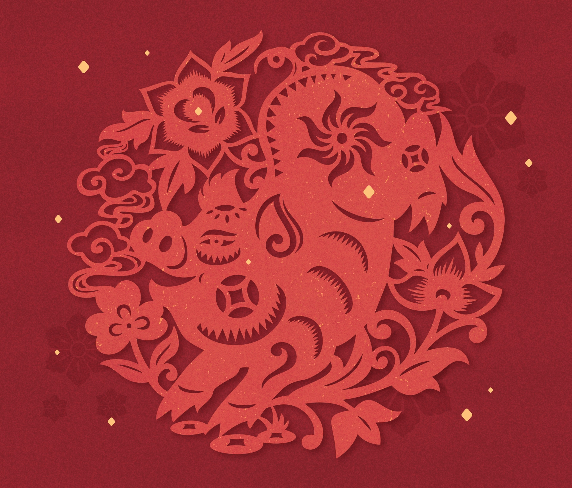 Chinese New Year - Year of the Pig Drawing