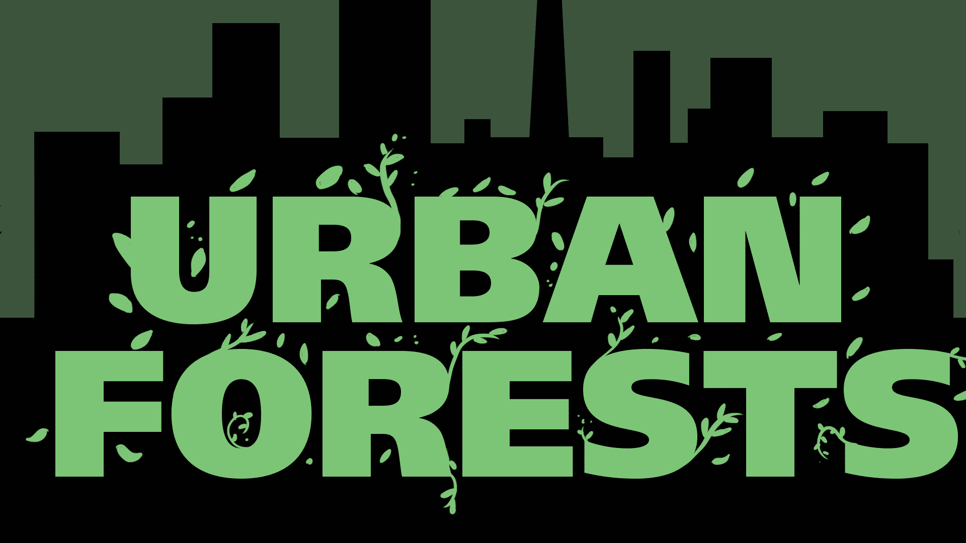 Text reading Urban Forests