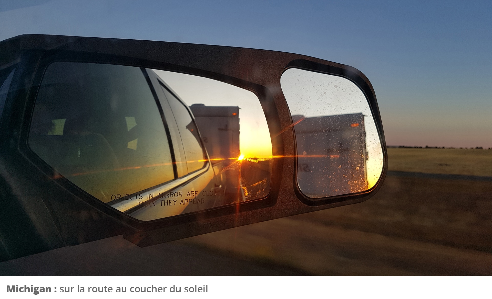 Picture of car side mirror