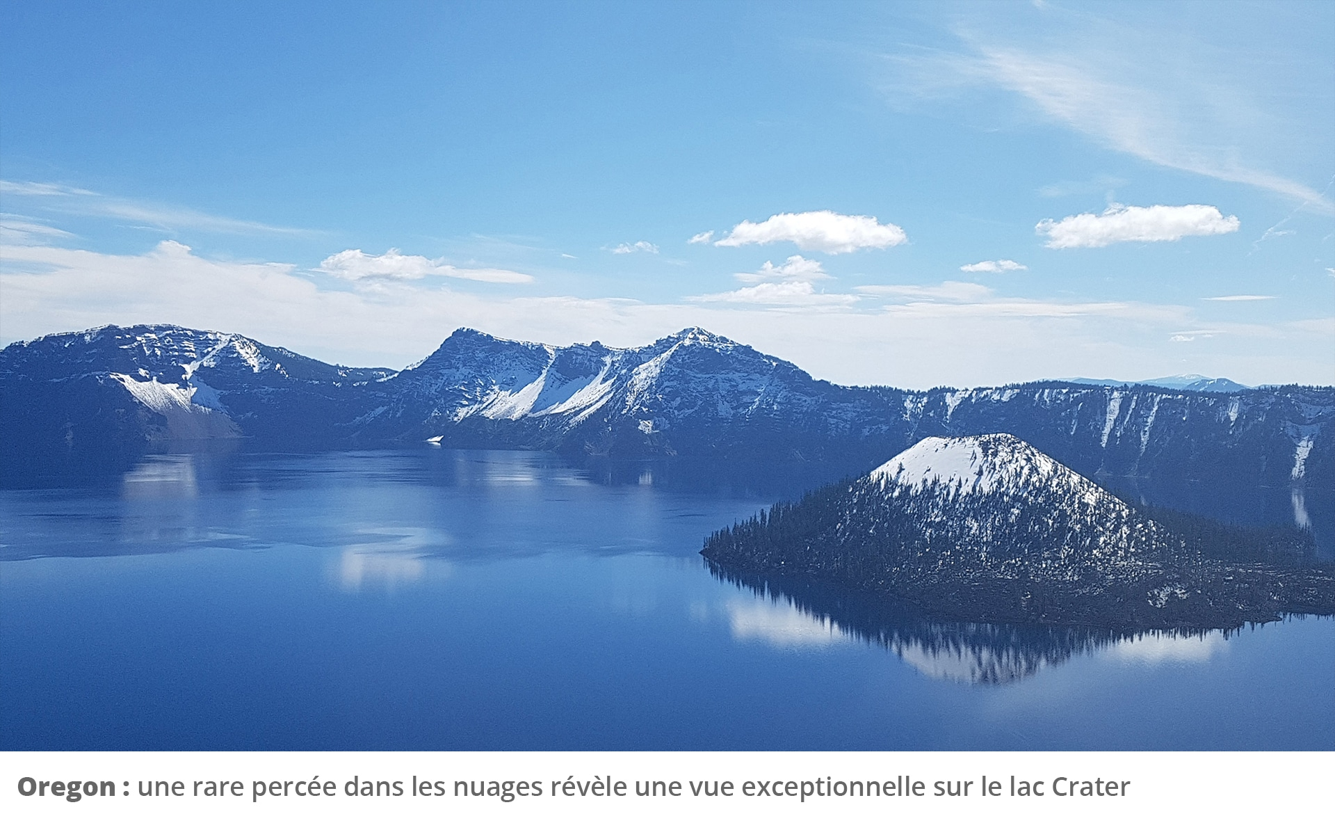 Picture of lake and mountains