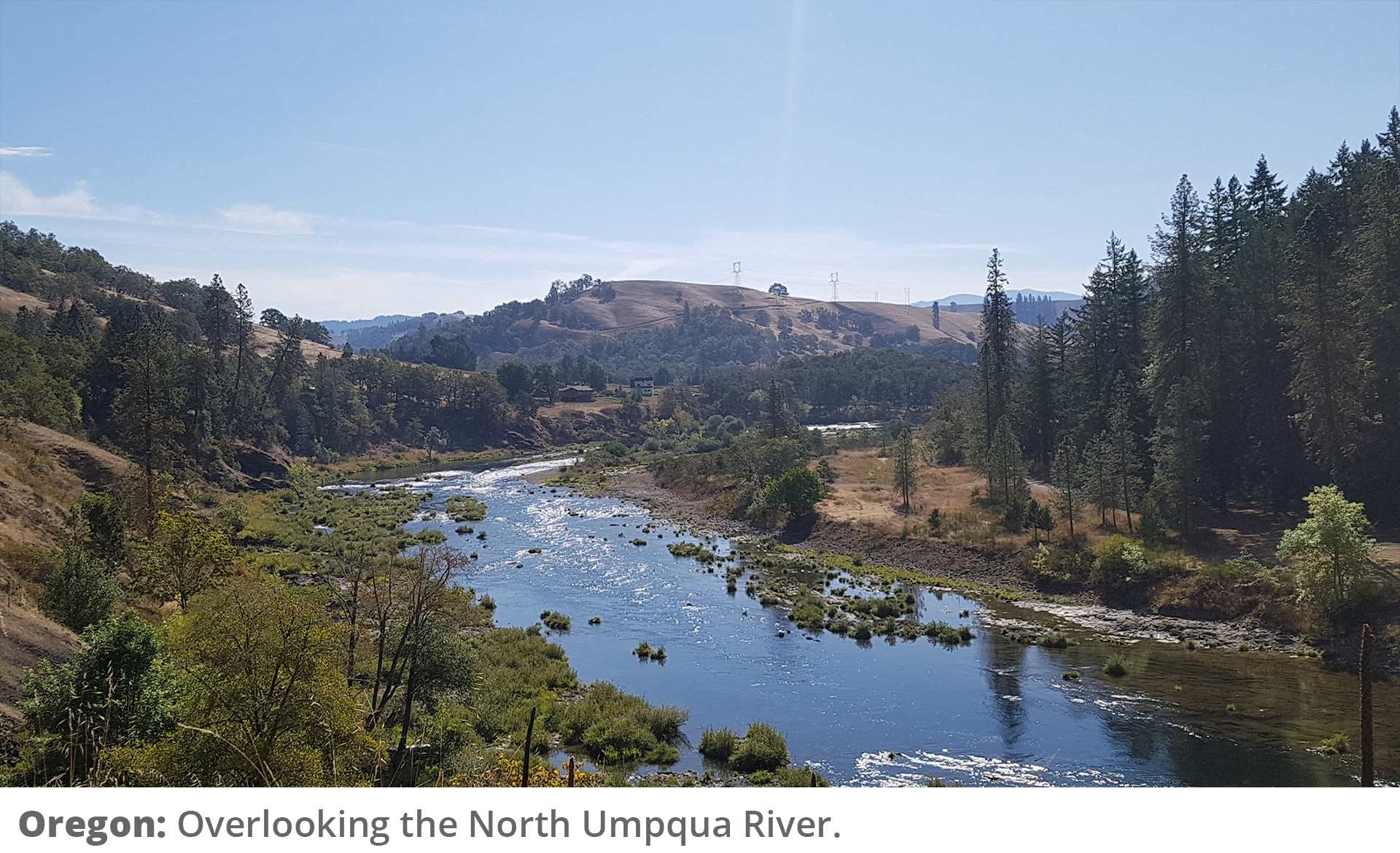 Honeymoon Road Trip - View of the North Umpqua River