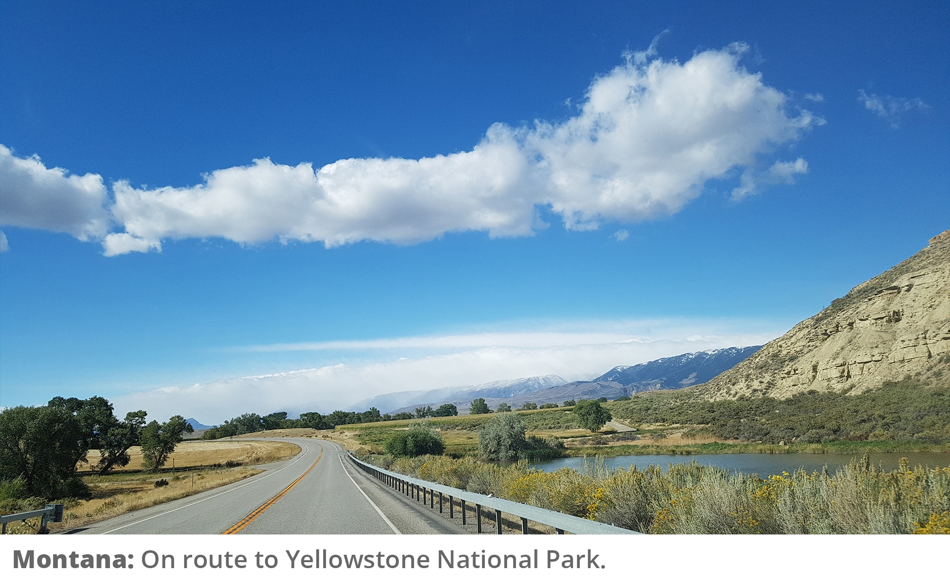 Honeymoon Road Trip - On route to Yellowstone National Park