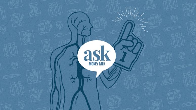 AskMoneyTalk logo with medical diagram
