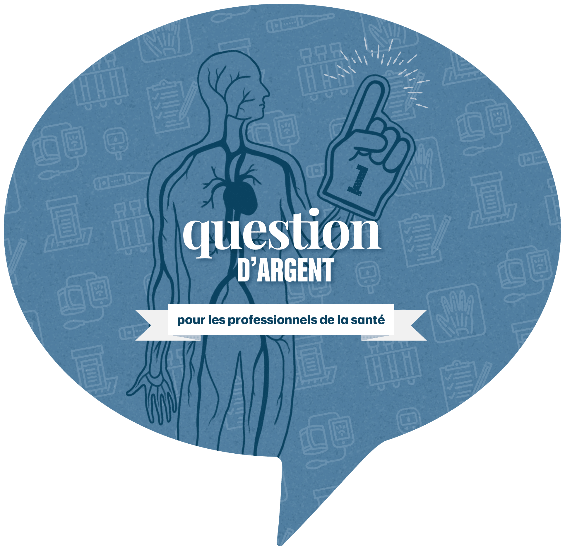 AskMoneyTalk French logo with medical diagram
