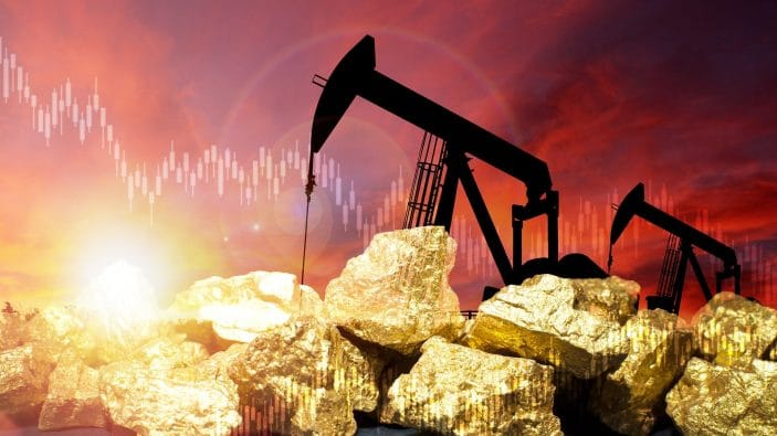 Separate ways: Gold and oil moving in opposite directions