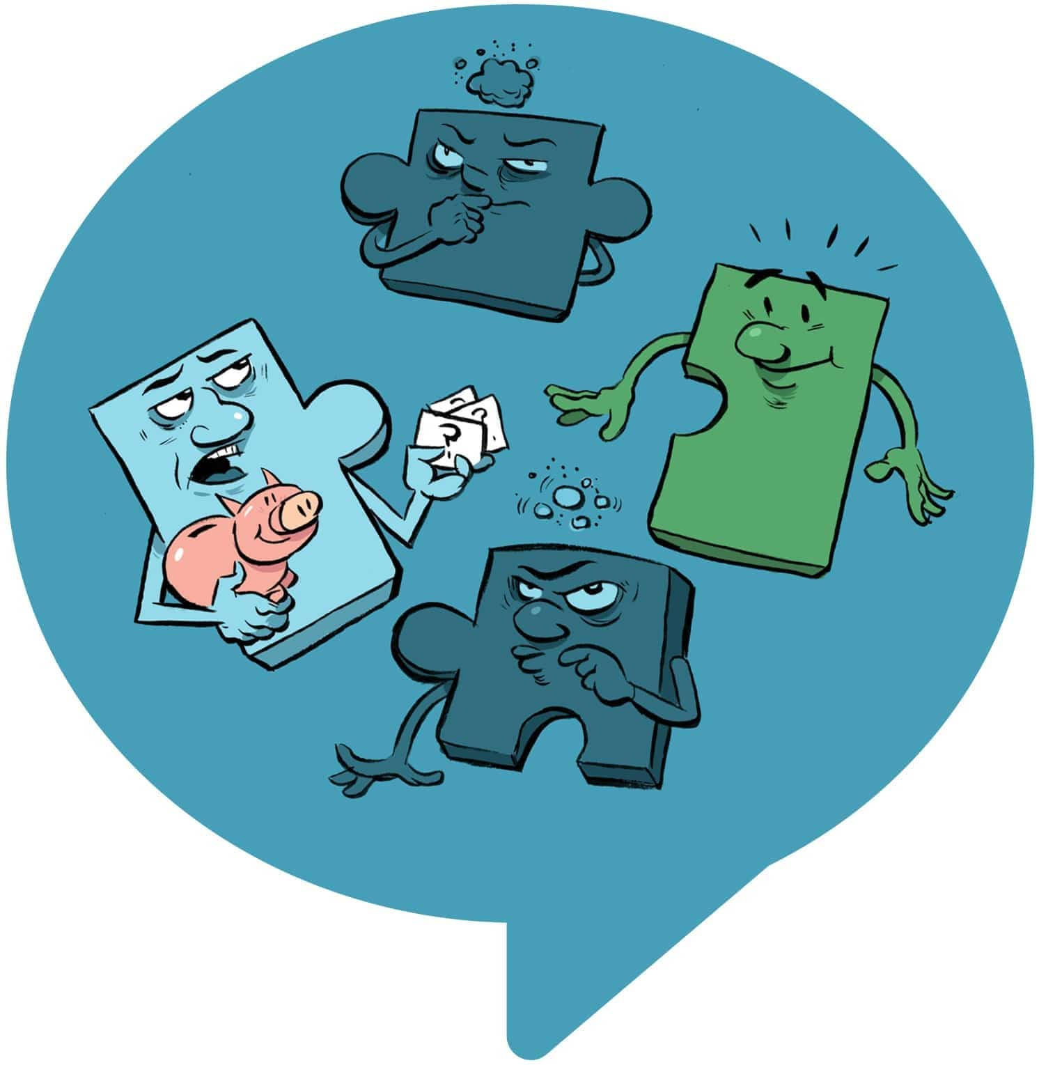 illustrated puzzle pieces finding the right financial match