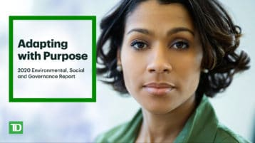 TD's bank-wide approach to ESG:  A commitment to a sustainable future